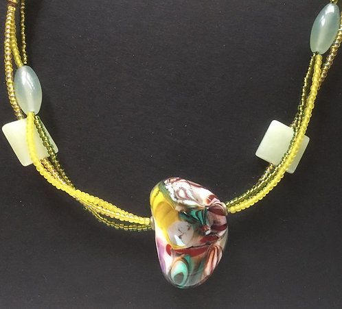 Galloway Lampworked Beads Necklace