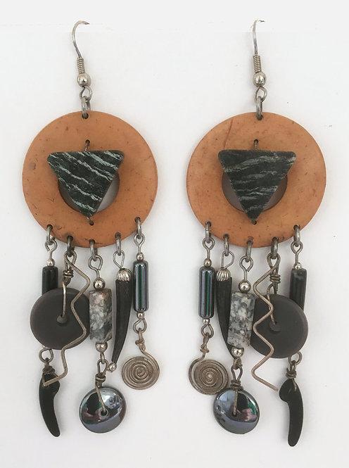 Corbett Zebra Stone Dangle Earrings