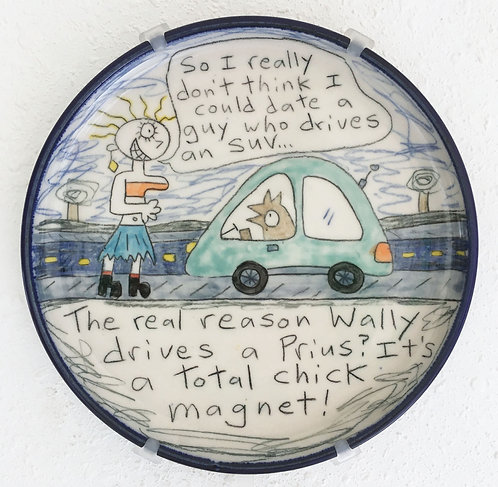 Wallyware Plate - Chick Magnet
