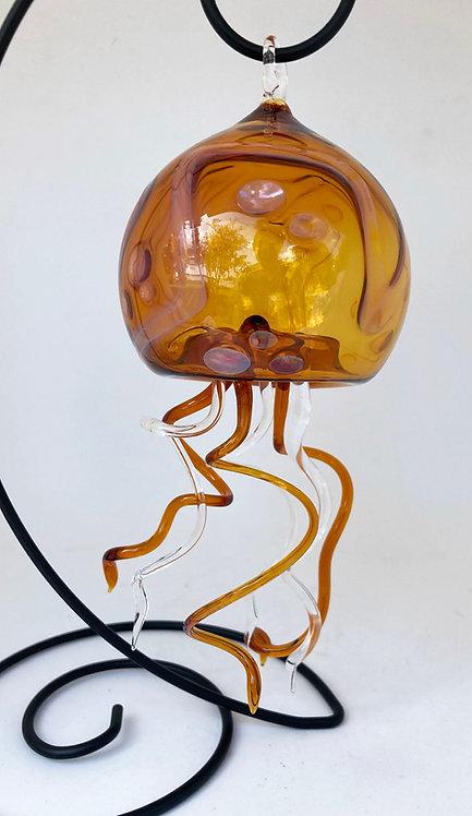 Boise Art Glass Jellyfish Sculpture