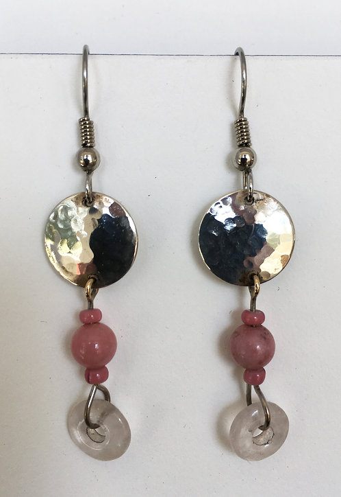 Corbett Sterling Silver and Rhodenite Earrings