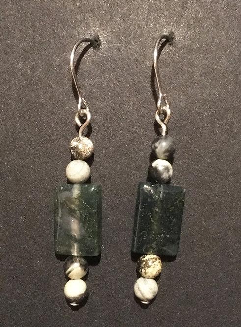 Galloway Moss Agate Earrings