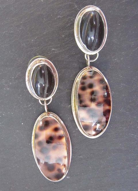 Gail Goldin Cowrie Shell Earrings