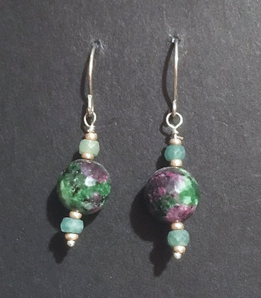 Galloway Emerald & Zoisote Earrings