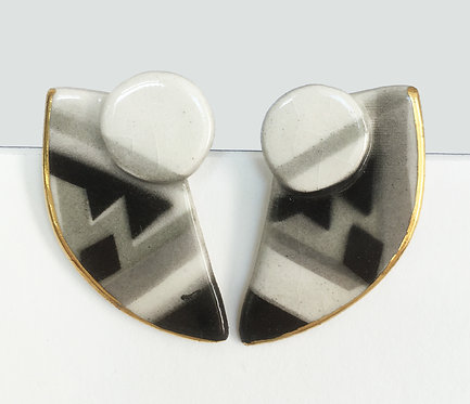 Claudia Zeber Ceramic Earrings