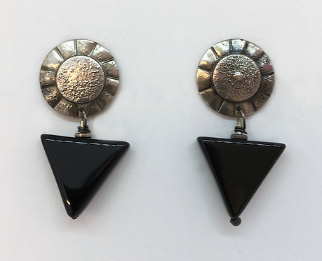 McLain Sterling and Onyx Earrings