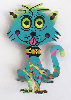 Graham Metal Art - Big Head Cat Magnets