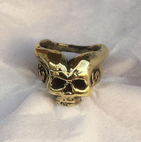 Eli Secrest Bronze Demon Ring Size 9