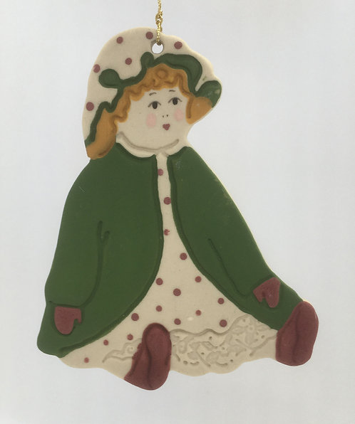 Tewksbury Porcelain Ornament - Colonial Doll
