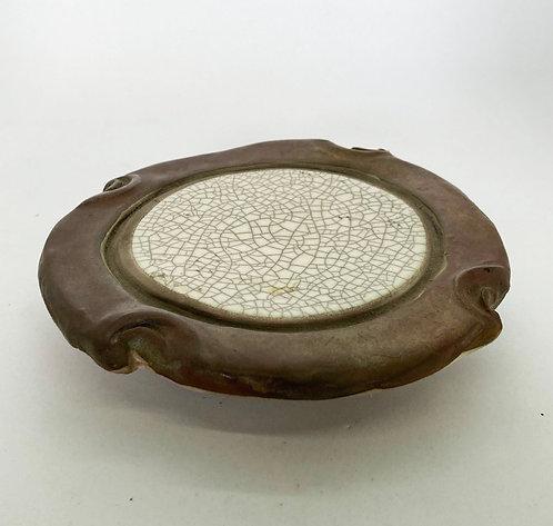 Shanti Raku Candle Plate