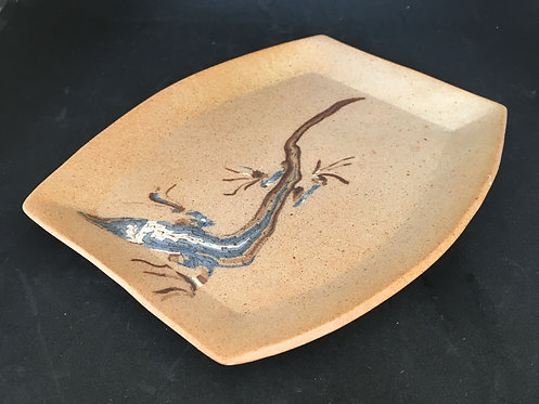 Earthfire Branch Porcelain Plate