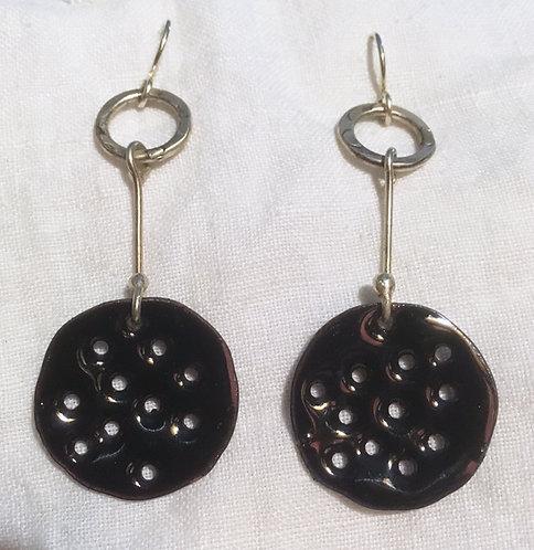 Joanna Craft Dangle Enamel Earrings