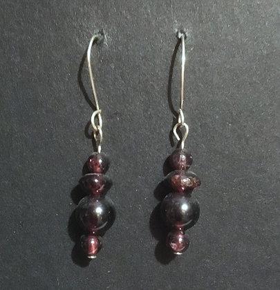 Galloway Garnet Earrings