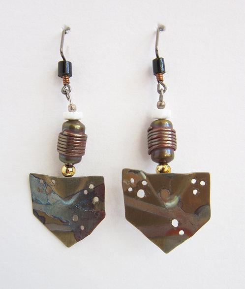 Philip Crooks Earrings - barrel bead