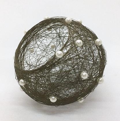 Cindy Luna Brass Wire with Beads Bowl