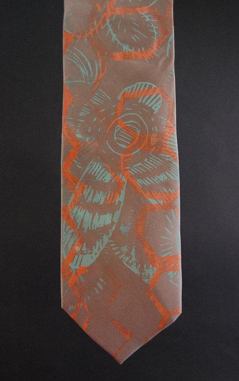 Jennythreads Silk Necktie - Taupe