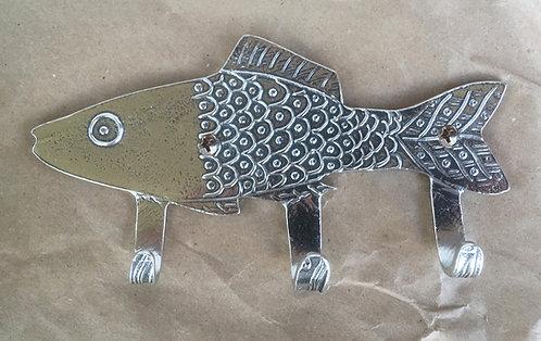 Crosby & Taylor Pewter Key Hooks - Fish