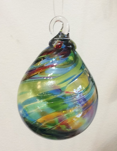 Glass Eye Studio Chameleon Raindrop Ornaments