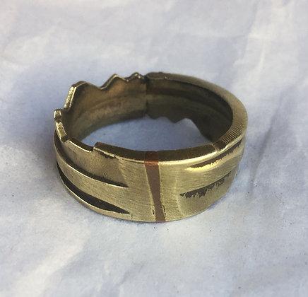 Eli Secrest Bronze Key Ring Size 10