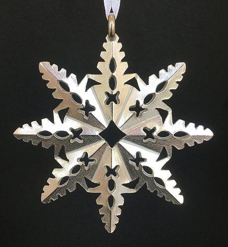 Vilmain Pewter Snowflake Ornament #7