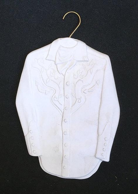 Tannenbaum Porcelain Ornament - Western Shirt