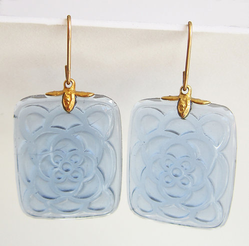 Joyas Lindas Antique Pressed Glass Earrings