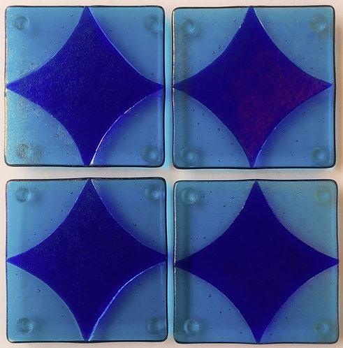 Shepardson Fused Glass Coaster Set - Harlequin