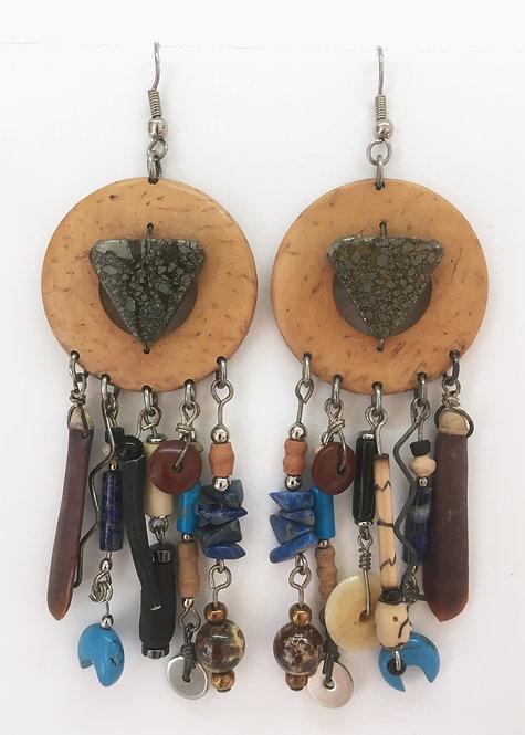 Corbett Pyrite Dangle Earrings