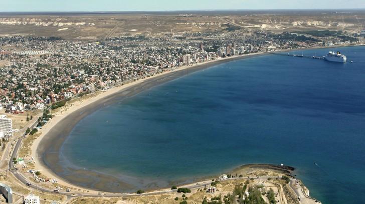 Vista aérea Puerto Madryn