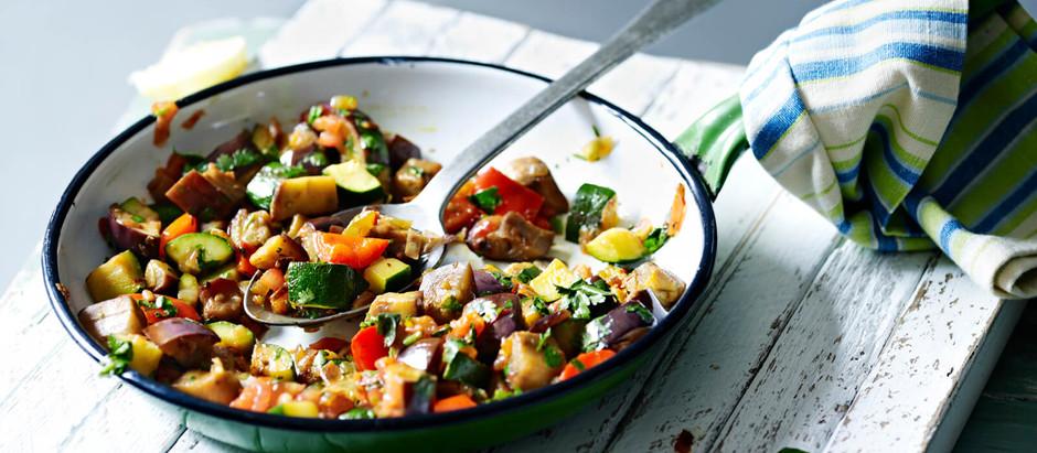 Receta: pollo con hierbas frescas y ratatouille
