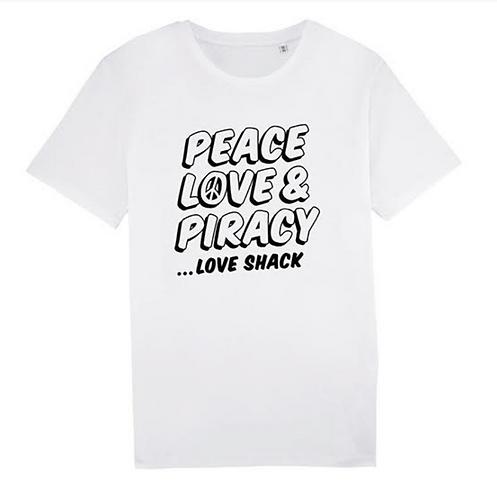 Peace, Love & Piracy Tee