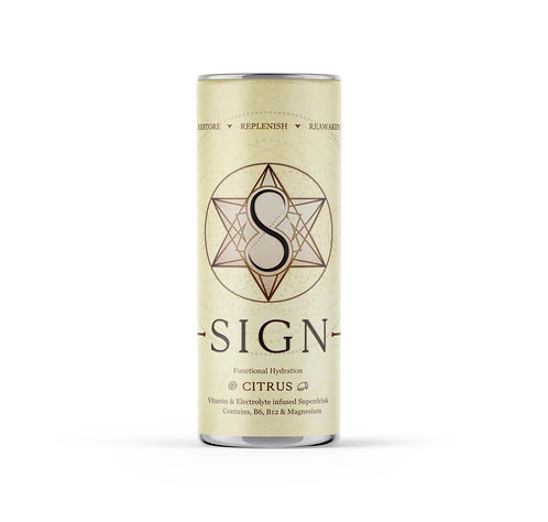 Sign natural energy drink