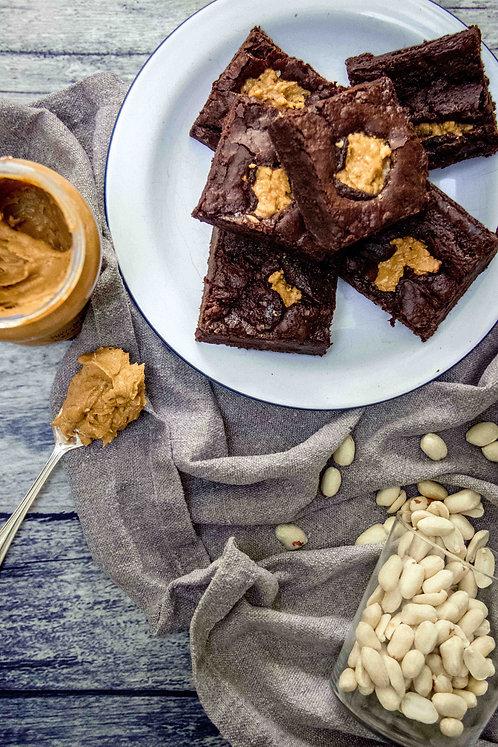 Cake or Death - GF Peanut Butter chocolate Brownies
