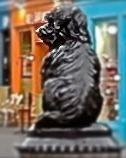 The statue of Greyfriars Bobby, dog, Edinburgh, bronze, Victorian