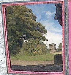 Observatory Calton Hill Edinburgh full colour Claude Glass reflection