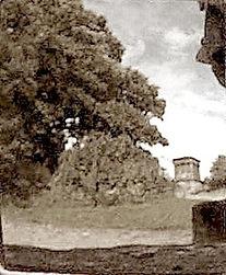 sepia Calton Hill Observatory Edinburgh