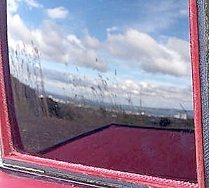 Claude Glass reflection looking from Calton Hill north to Fife