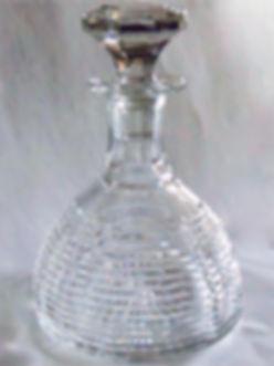 Art Deco Edinburgh Crystal glass decanter of domed shape