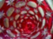 Stevens & Williams pink cased glass vase interior
