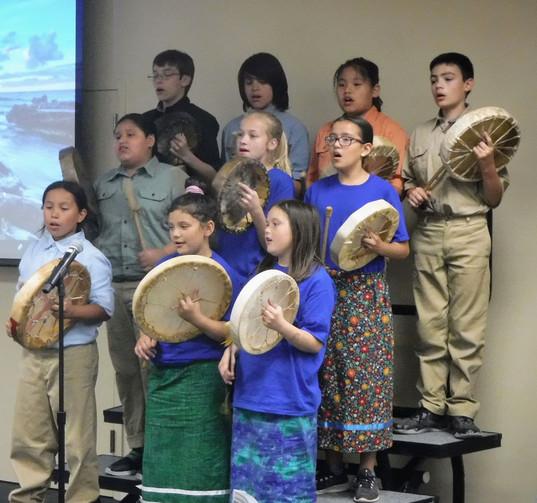 Salish School of Spokane choir
