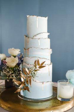 Blue Dream Wedding Cake