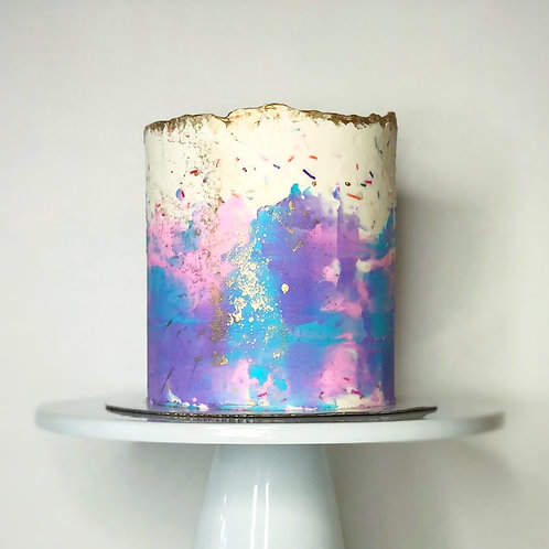 Abstract Birthday Cake