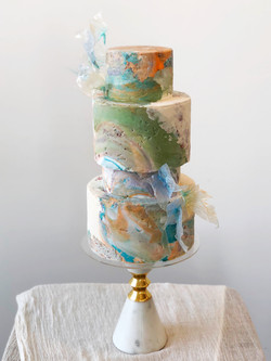 Rough Stone Wedding Cake
