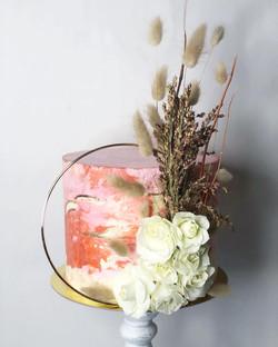 Fall Marble Buttercream Wedding Cake