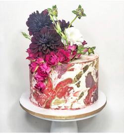 Marble Bridal Shower Cake
