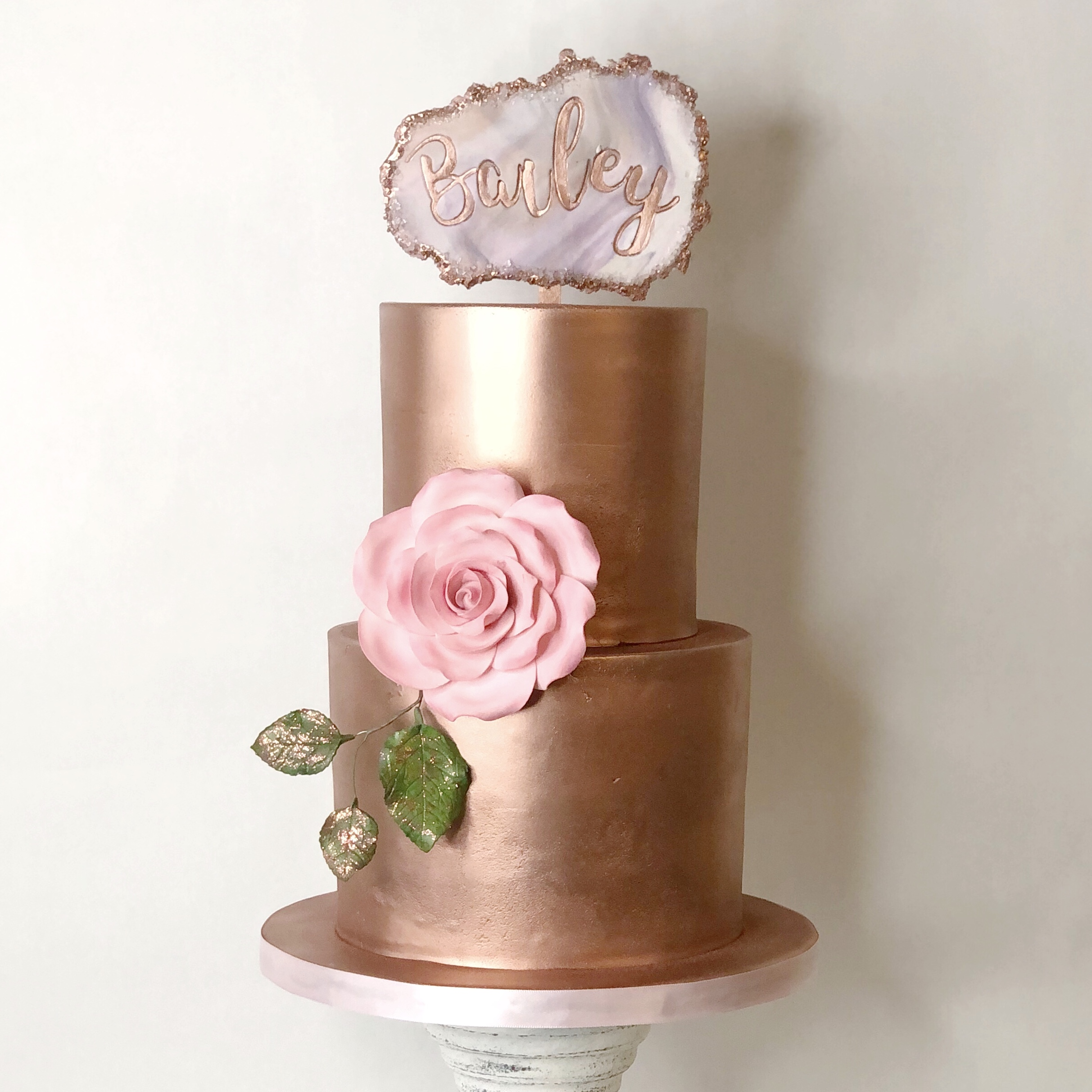 Rose Gold Metallic Cake
