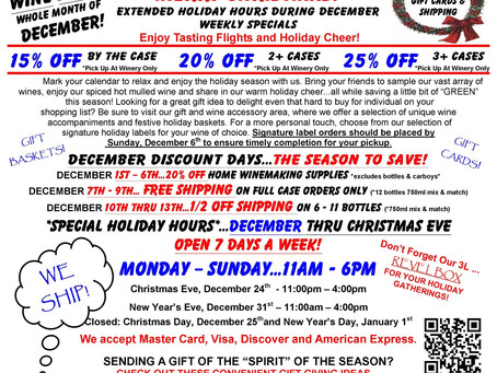 DECEMBER IS THE SEASON TO SAVE!