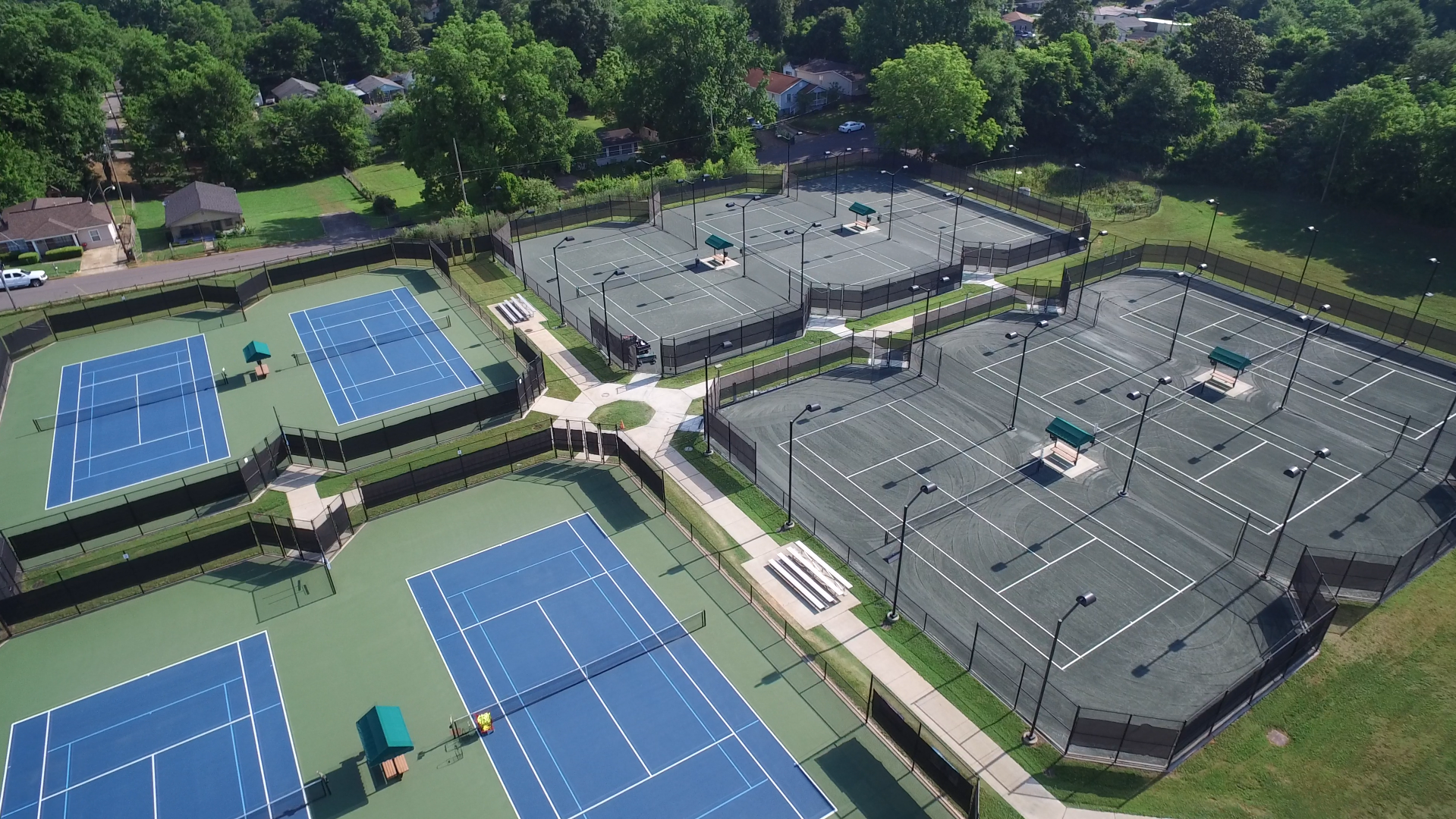 Aerial of Tennis Center Courts