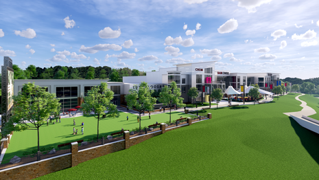 Conceptual Rendering- View from SW Corner