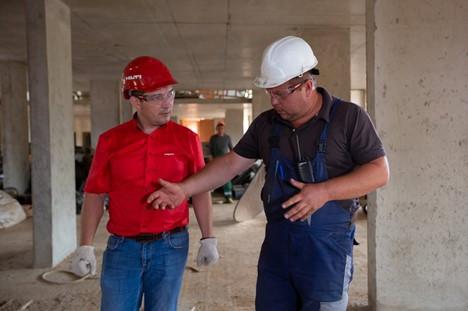 Men on the construction site
